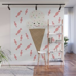 Ice cream and candy Wall Mural