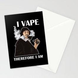 I Vape Therefore I Am | Vaping Rene Descartes Stationery Cards