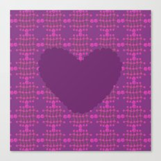 pattern with heart 2 Canvas Print