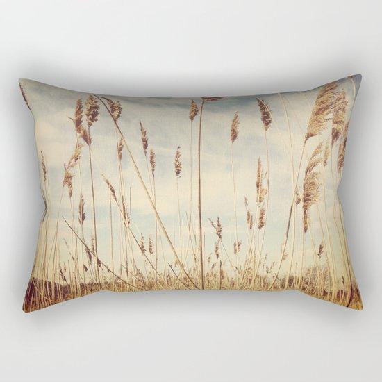 Tall Field by the Ocean Rectangular Pillow