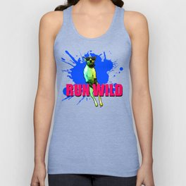 Cool Dog Run Wild Unisex Tank Top