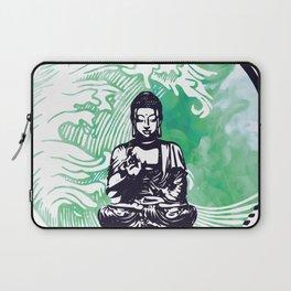 Buddha Typhoon Emerald Smoke Laptop Sleeve