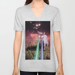 Mega Space Cat Rising Unisex V-Neck