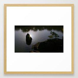 Japanese Zen garden photography - peace of mind Framed Art Print