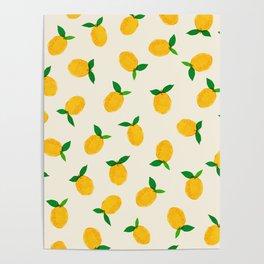 Lemon_Yellow_Pattern_01 Poster