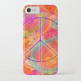 Hippie Chic Paisley Flowers Peace iPhone Case