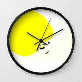 girl hair Wall Clock