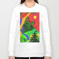 woods Long Sleeve T-shirts featuring woods by sladja