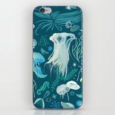 Aqua pattern iPhone & iPod Skin