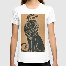 Vintage Lion Art Deco Illustration (1917) T-shirt