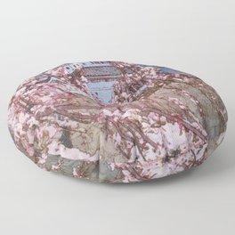 12,000pixel-500dpi - Yoshida Hiroshi - Cherry Blossoms 8scenes, Hirosaki Castle - Digital Remaster Floor Pillow