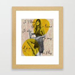 .Je T'aime. Framed Art Print