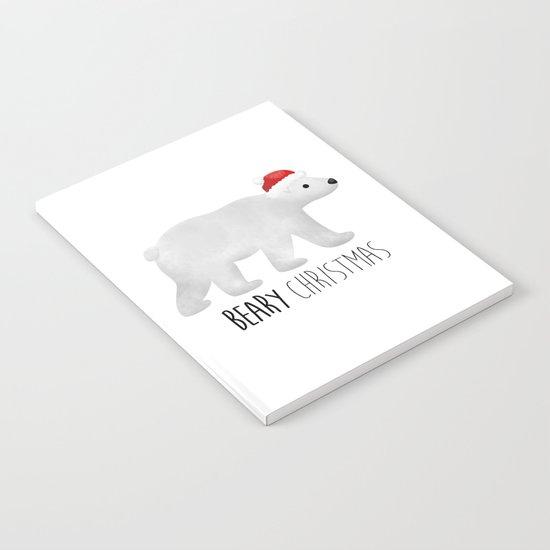 Beary Christmas   Polar Bear Notebook