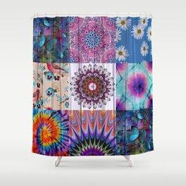 Hippie Quilt Shower Curtain