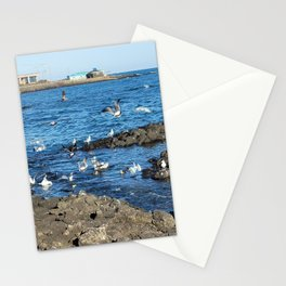 Migratory birds of Jeju sea, korea Stationery Cards