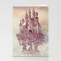 castle Stationery Cards featuring Castle in the Trees by Rachel Caldwell