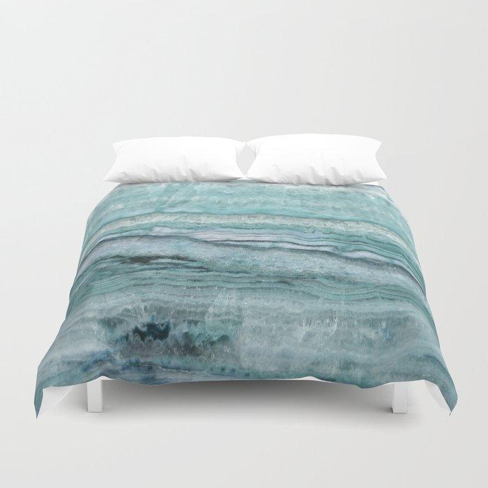 Mystic Stone Aqua Teal Bettbezug