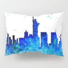 New York, watercolor Pillow Sham