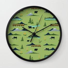 Alaska - Green Wall Clock
