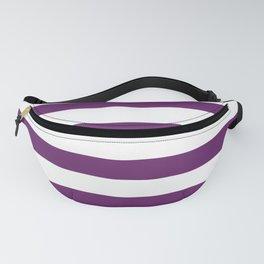 Plum Purple Stripes on White  Fanny Pack