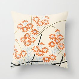 Ornamental Chrysanthemum, Daisy Flowers Throw Pillow