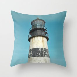 Cape Disappointment Pacific Ocean Washington Northwest Lighthouse Coast Guard Boats Gothic Architect Throw Pillow