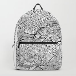 Buenos Aires Map White Backpack