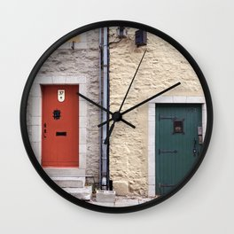 Doors of Petit-Champlain, Quebec City Wall Clock