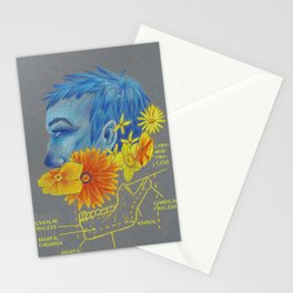 Flower and Bones 1 Stationery Cards