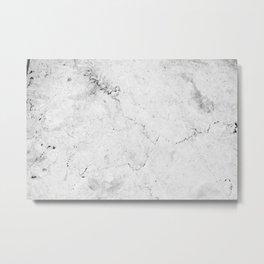 Marble texture Gray Metal Print