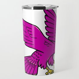 Peregrine Falcon Swoop Mono Line Travel Mug