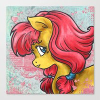 pony Canvas Prints featuring Pony by Pepacs