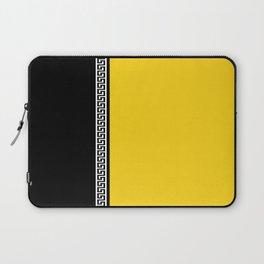Greek Key 2 - Yellow and Black Laptop Sleeve