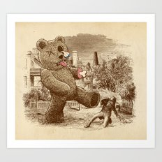 Teddy's Back! Art Print