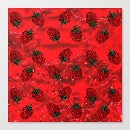 Raspberry fever Canvas Print