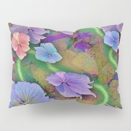 LACECAP HYDRANGEA THIMBLEBERRY ABSTRACT FLORAL Pillow Sham
