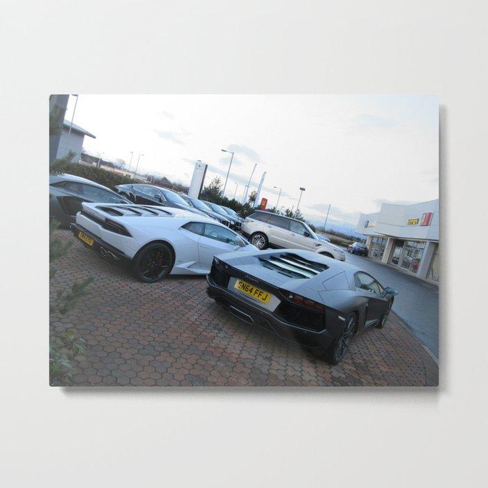 Lamborghini Hurcan and Aventador Metal Print