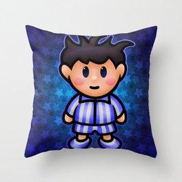 Ness in Pajamas Throw Pillow