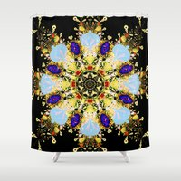 math Shower Curtains featuring Fuzzy Math by Jim Pavelle
