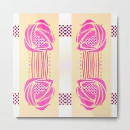"Charles Rennie Mackintosh ""Roses"" (2) Metal Print"