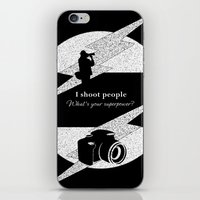 aperture iPhone & iPod Skins featuring I Shoot People by LLL Creations