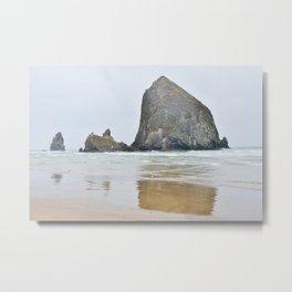 Haystack Rock in Cannon Beach Oregon Metal Print