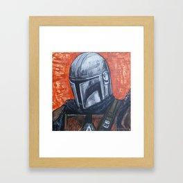 Space Helmet Guy Framed Art Print