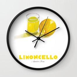 Limoncello Cocktail Wall Clock