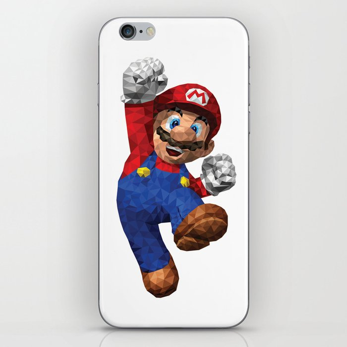 Super Mario Nintendo Illustration Pixel Art iPhone Skin by eightandabit