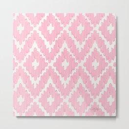 Textile Diamonds – Blush Metal Print