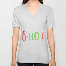 HO HO HO Christmas Elements Design Unisex V-Neck