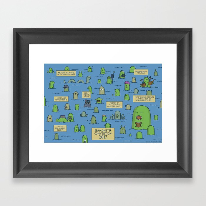 Seamonster Convention 2017 Framed Art Print