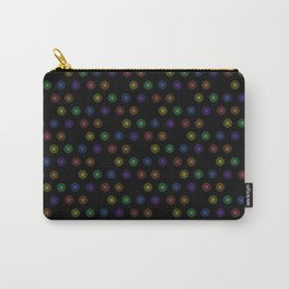 Offset Flower Rainbow Pattern Carry-All Pouch