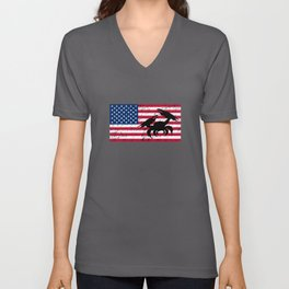 Crap Patriotic American Flag Unisex V-Neck